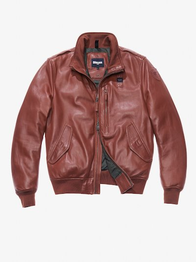 NICCOLO PADDED LEATHER AVIATOR BOMBER JACKET