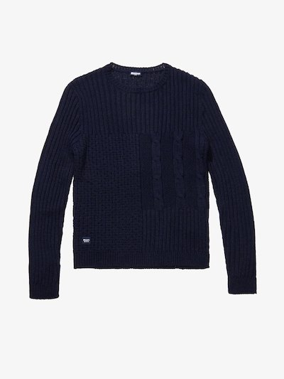 CREW NECK WOOL-BLEND SWEATER