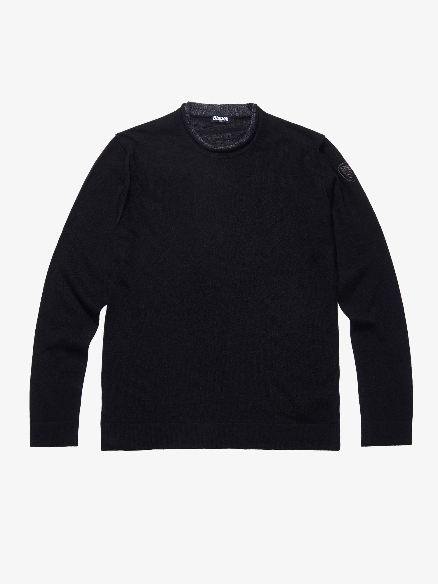 CREW NECK WOOL CASHMERE SWEATER - Blauer