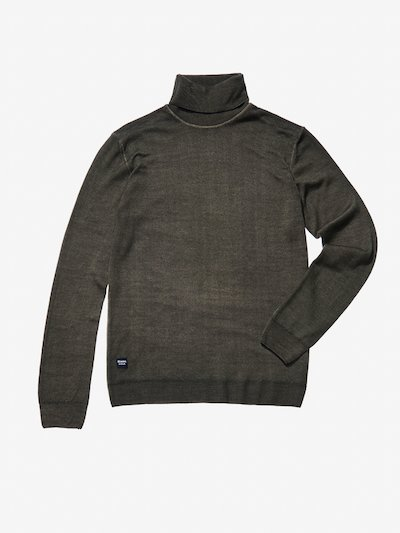 STOCKING STITCH KNIT WOOL TURTLENECK