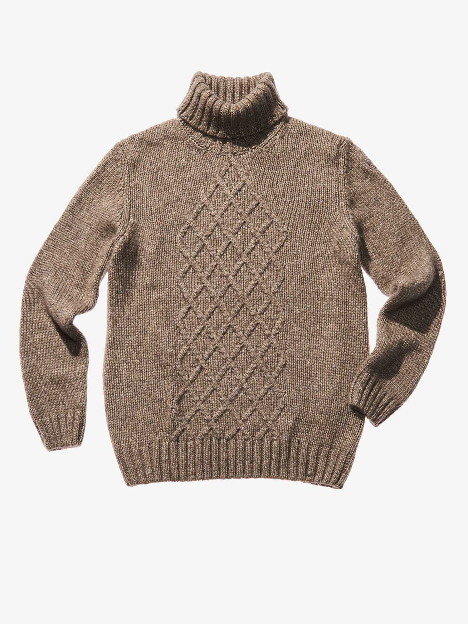 Blauer - WOOL COTTON TURTLENECK - Melainge Hazelnut - Blauer