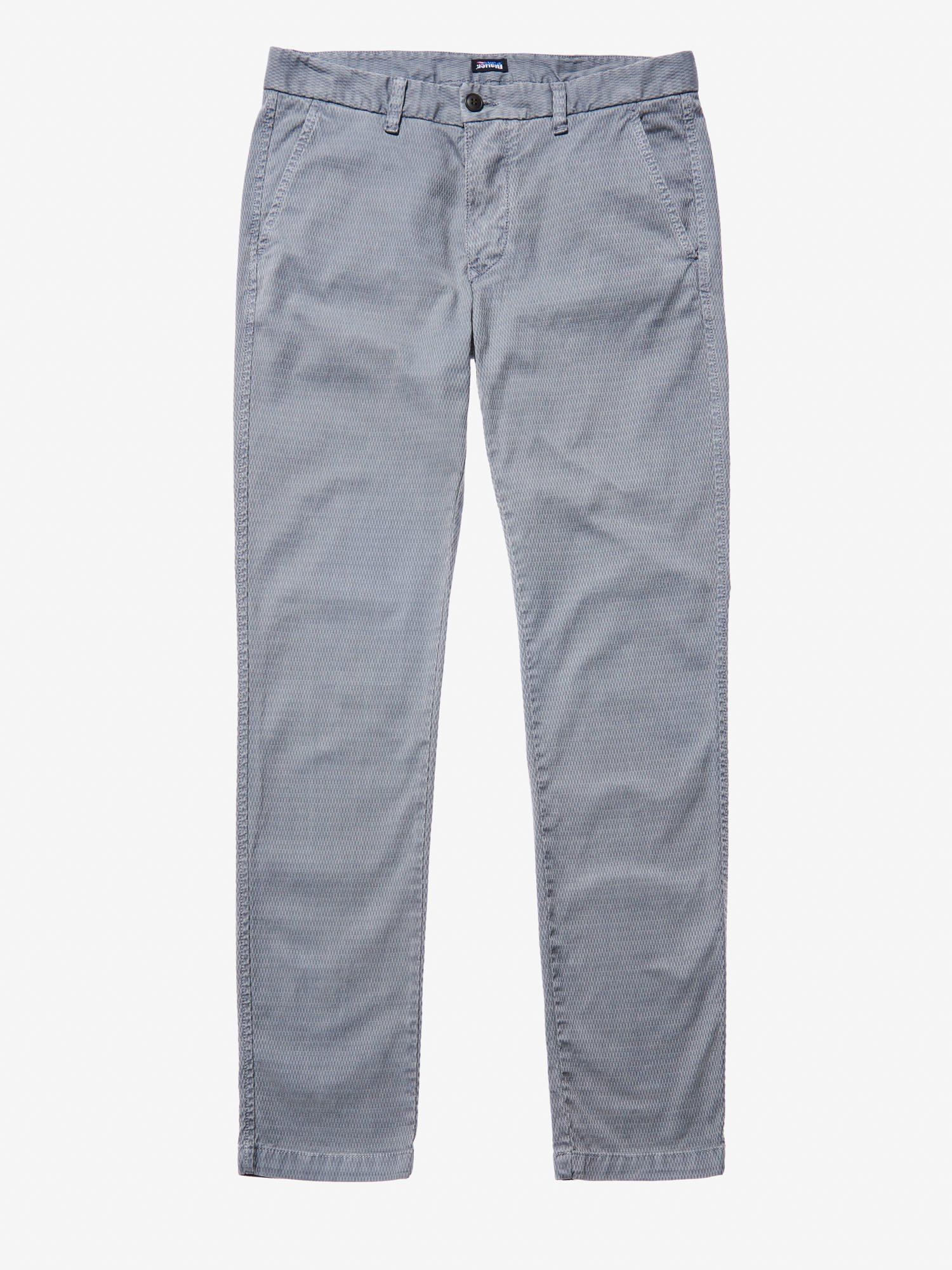 Blauer - JACQUARD CHINO PANTS - Dark Grey - Blauer