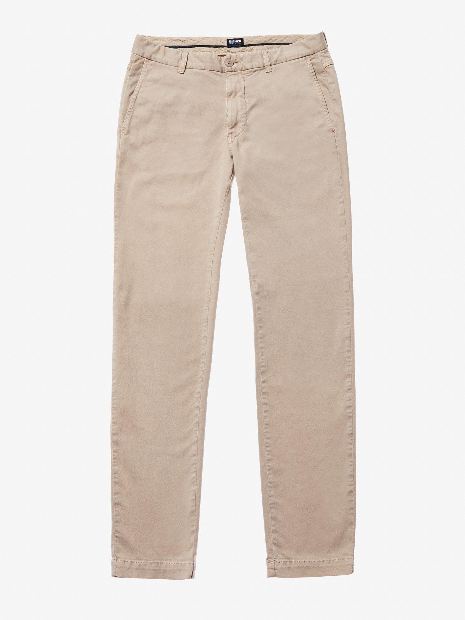 GARMENT DYED CHINO PANTS - Blauer