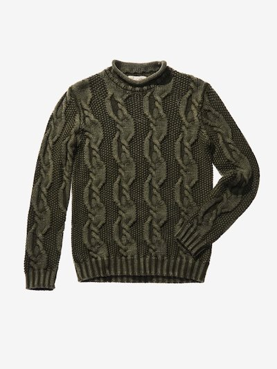 CHUNKY CABLE KNIT JUMPER IN KHAKI