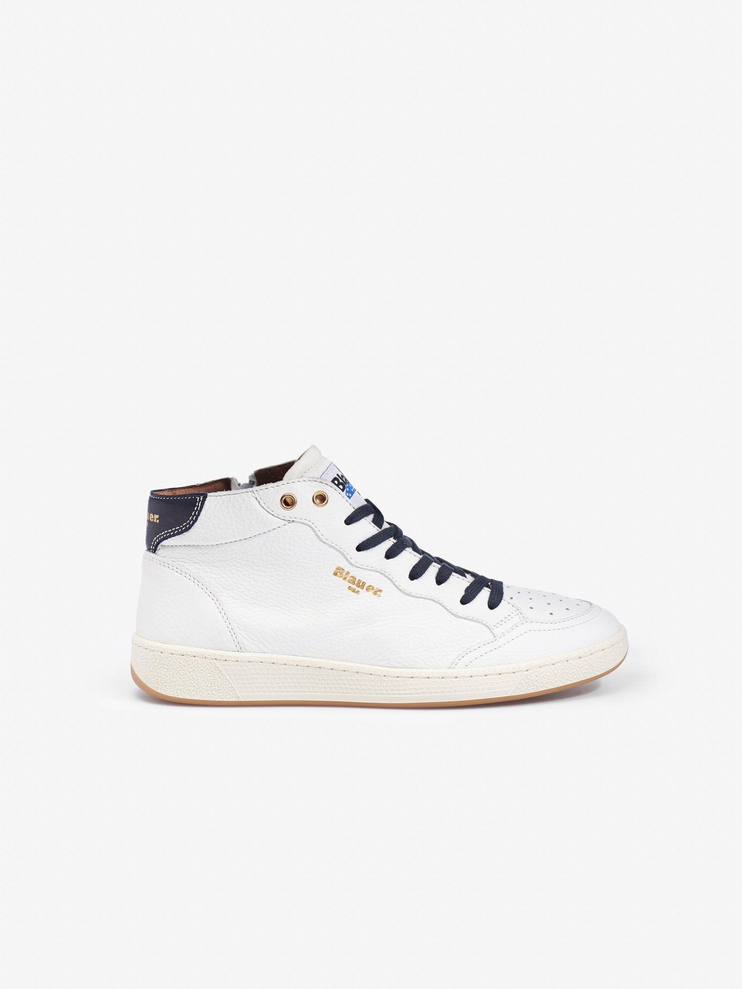 Blauer - MURRAY HIGH-TOP TRAINERS - white - Blauer