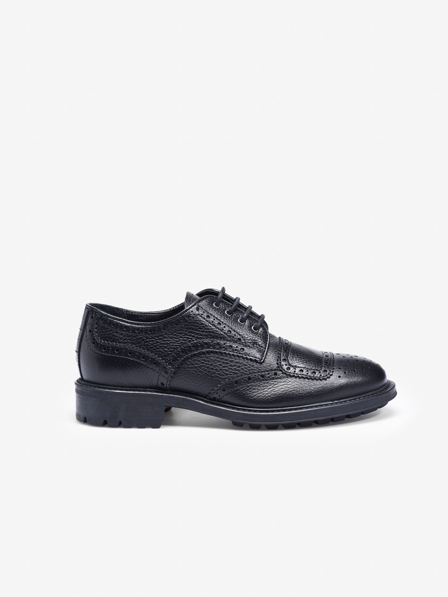Blauer - BROGUE SHOES IN BLACK LEATHER - Black - Blauer