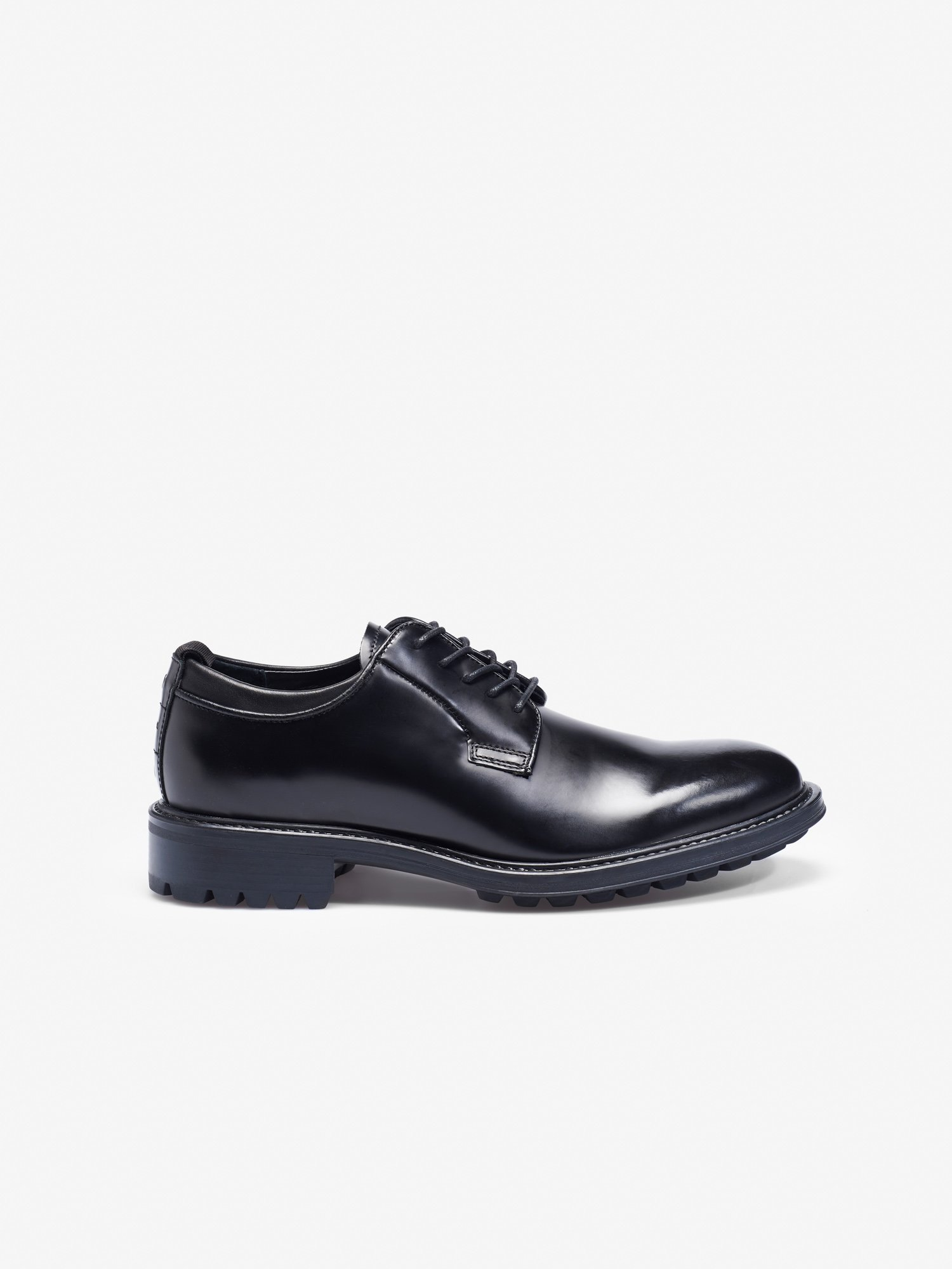 LACE UP SHINY DERBY SHOES - Blauer