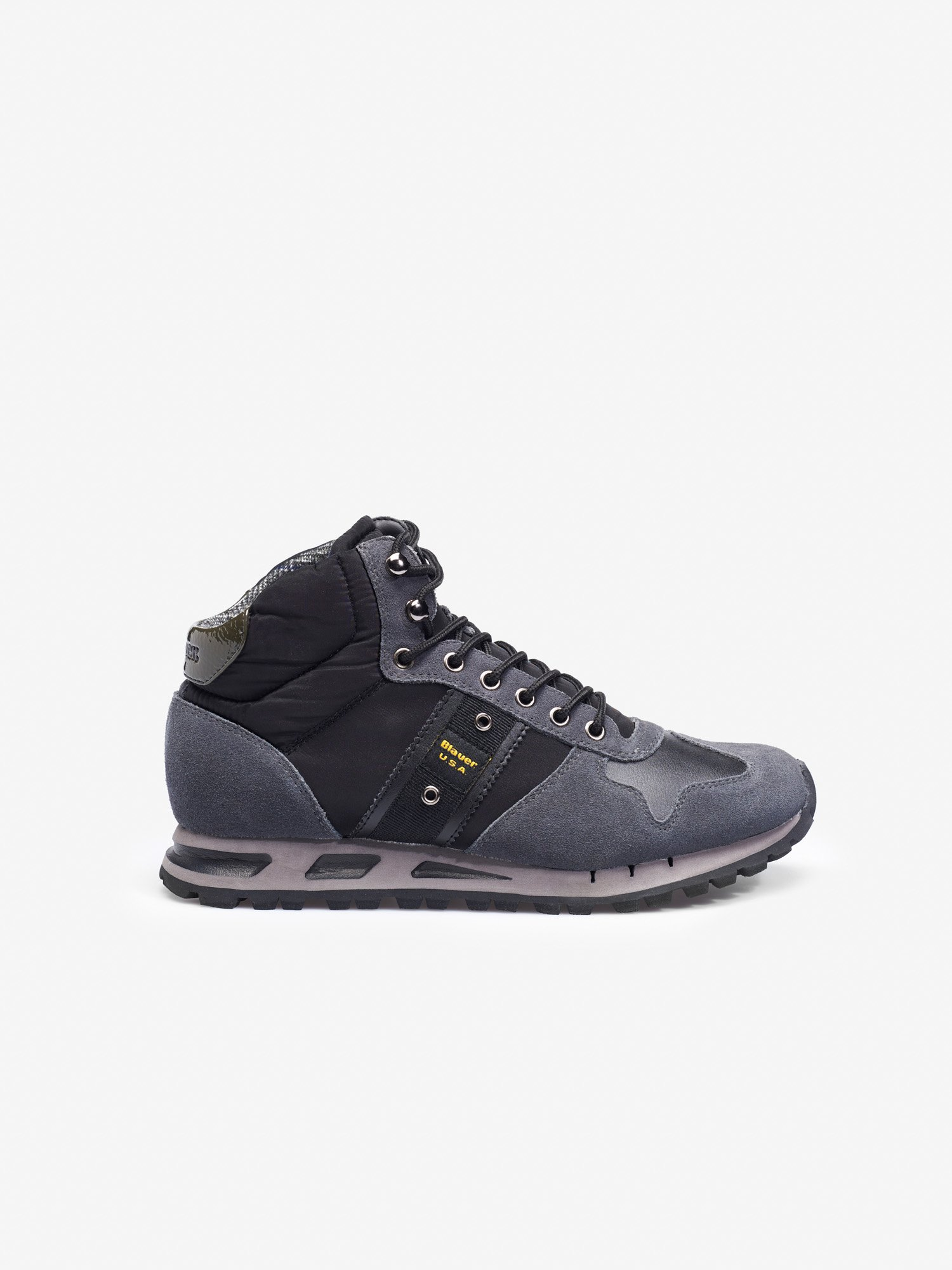 Blauer - MUSTANG HIGH-TOP TRAINERS - Dark Grey - Blauer