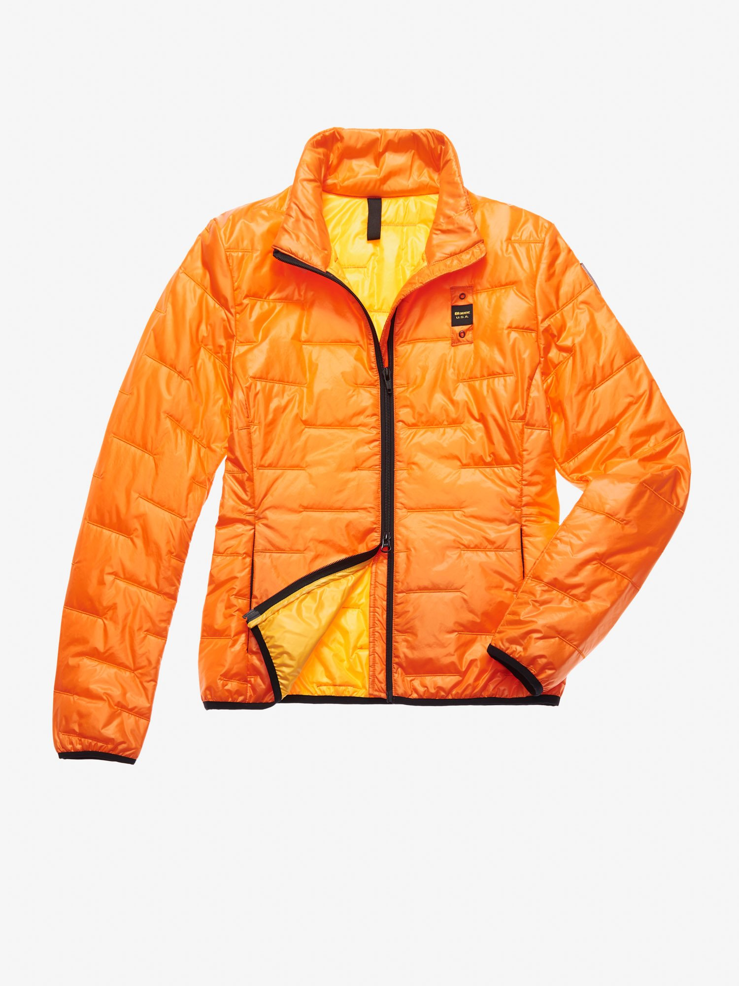 Blauer - SANCHEZ SHINY 100 GR PADDED JACKET - Orange Carrot - Blauer
