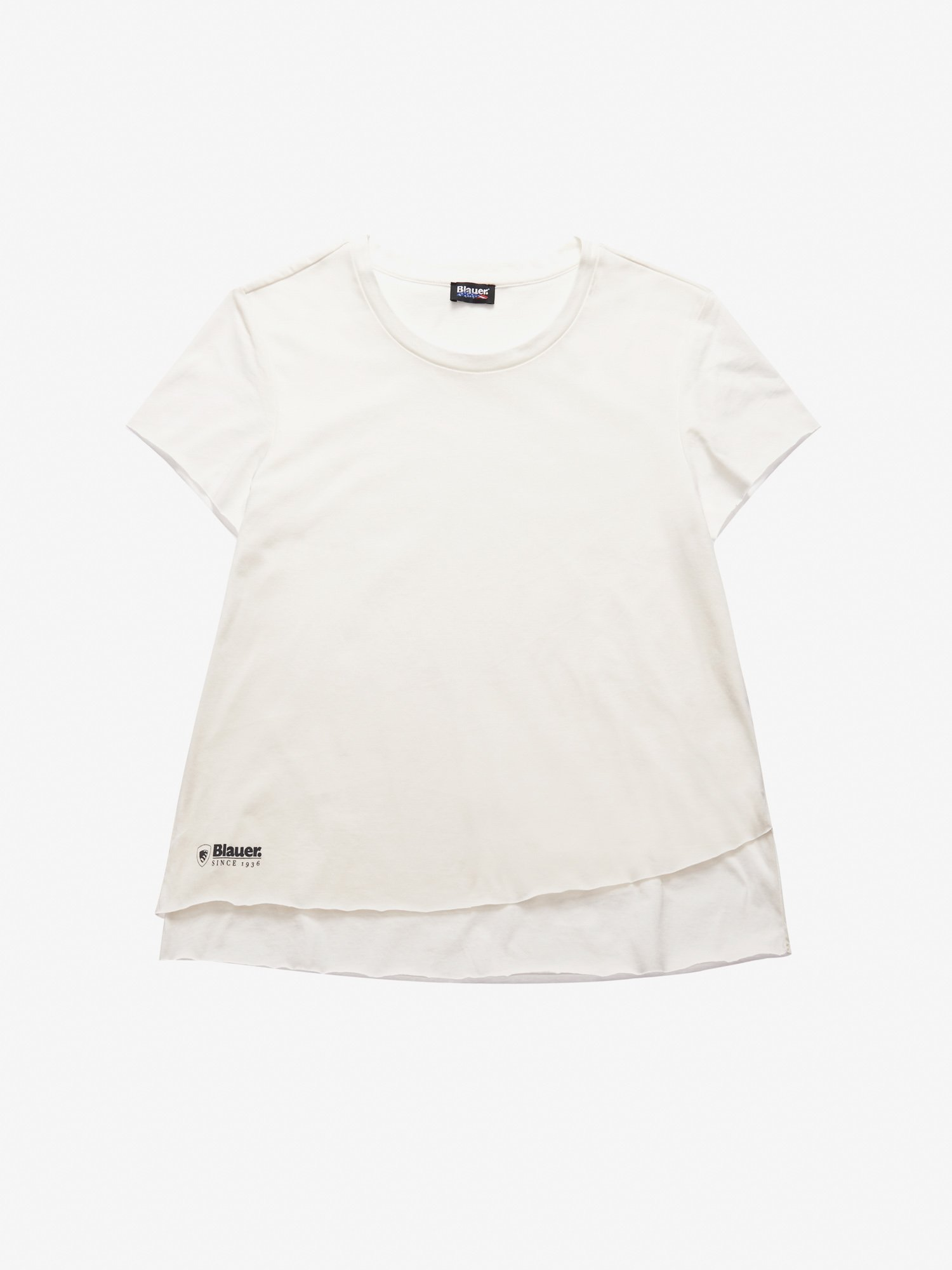 Blauer - DOUBLE COTTON T-SHIRT - Ivory - Blauer