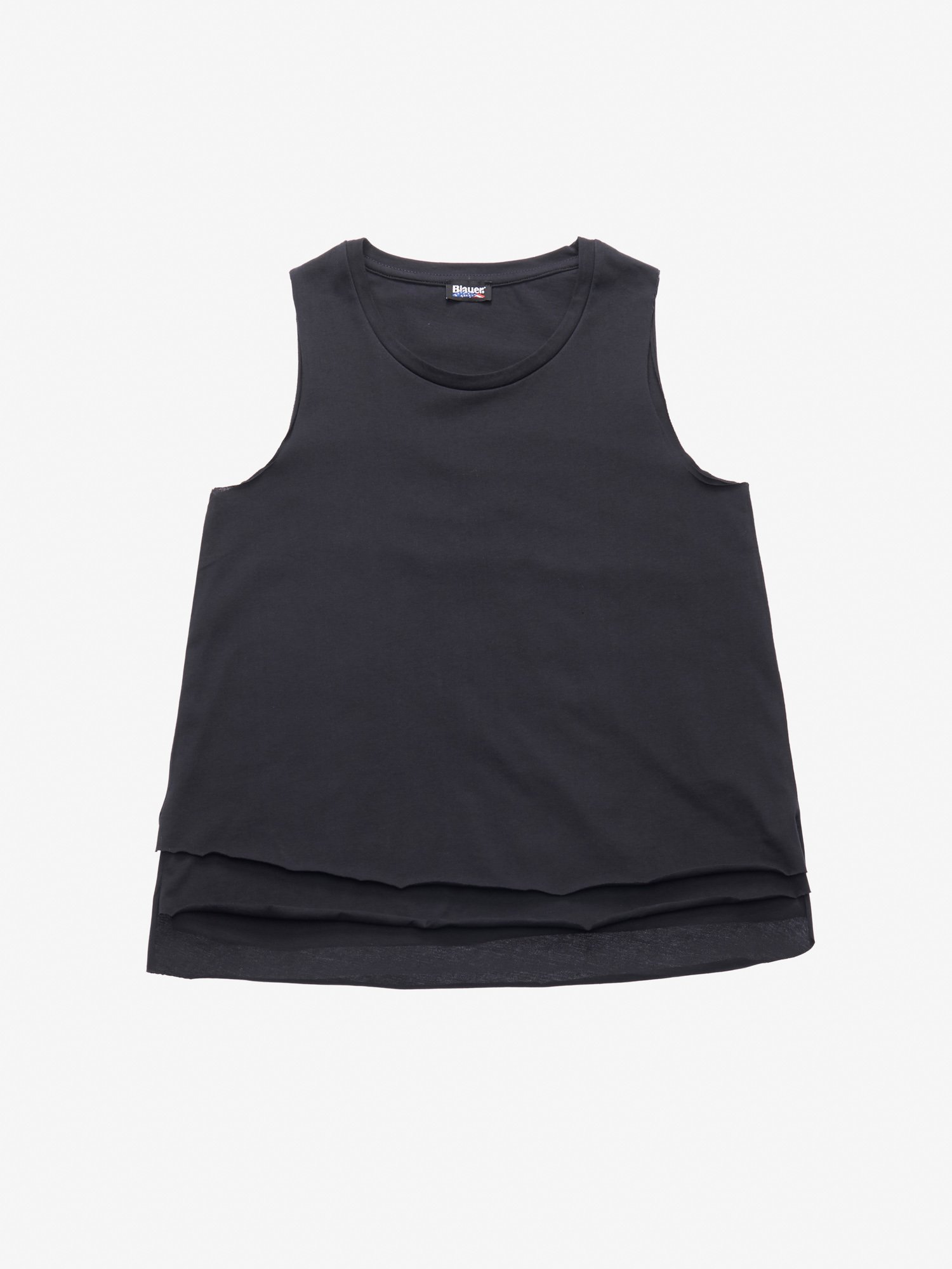 Blauer - DOUBLE COTTON TANK TOP - Black - Blauer