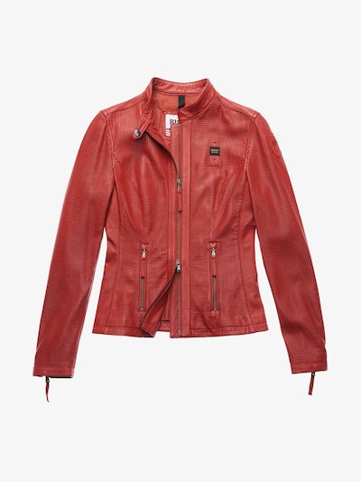MILLER PERFORATED LEATHER BIKER-STYLE JACKET