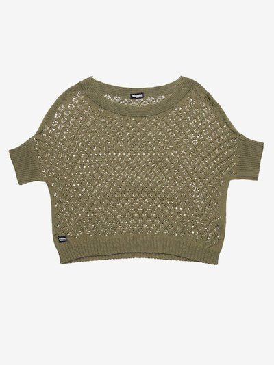 SHORT LACE-EFFECT SWEATER