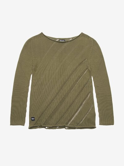 PERFORIERTER STRICKPULLOVER DAMEN