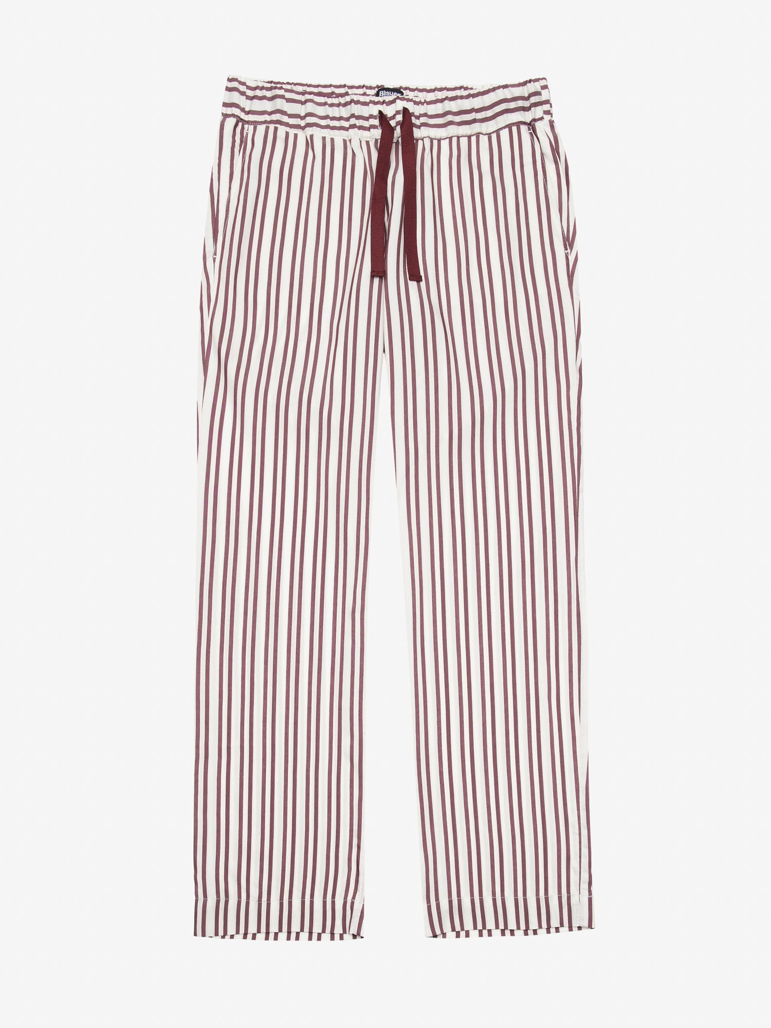 STRIPED POPLIN TROUSERS - Blauer