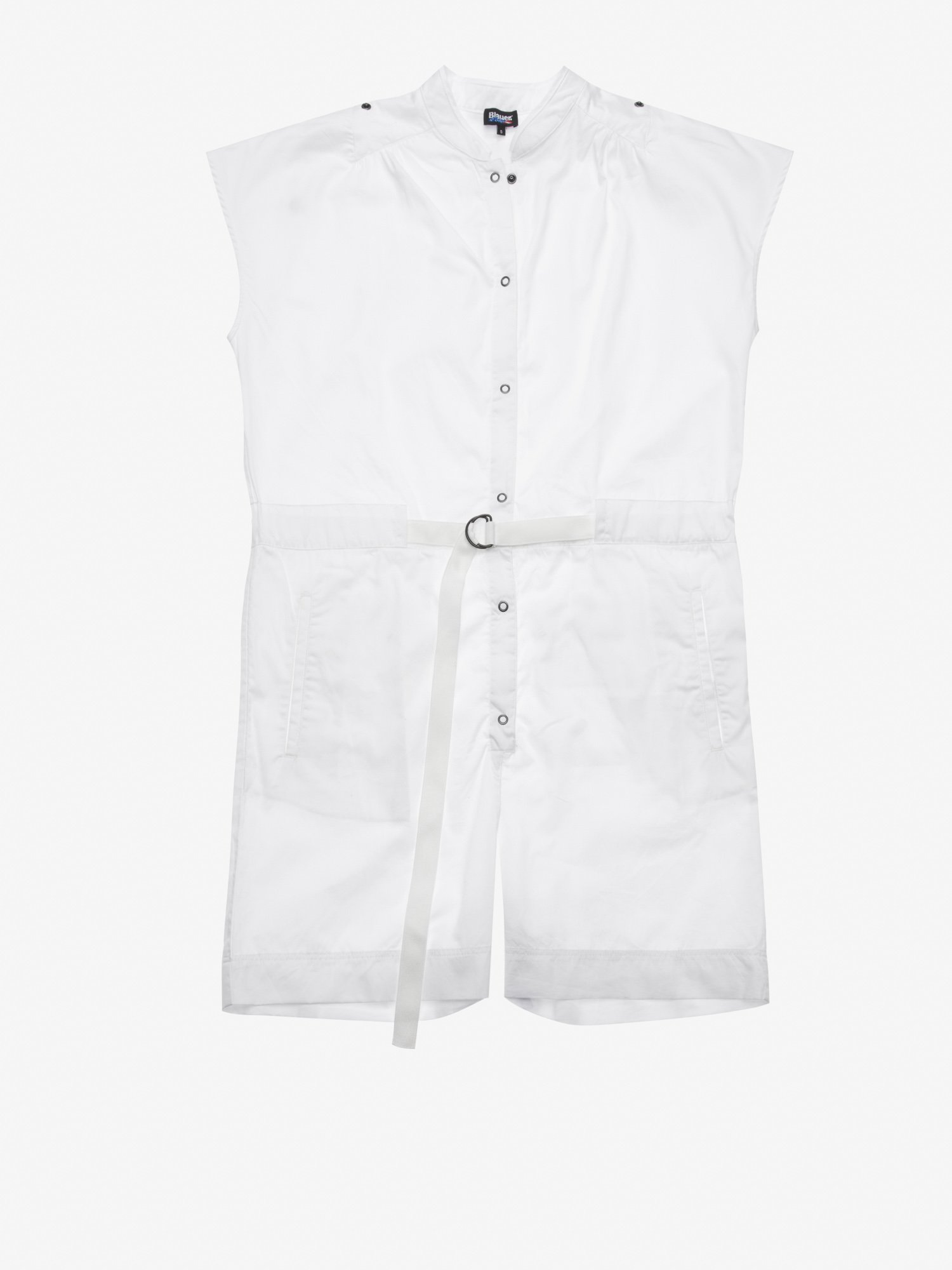 Blauer - SHORT SLEEVELESS JUMPSUIT - Ivory - Blauer