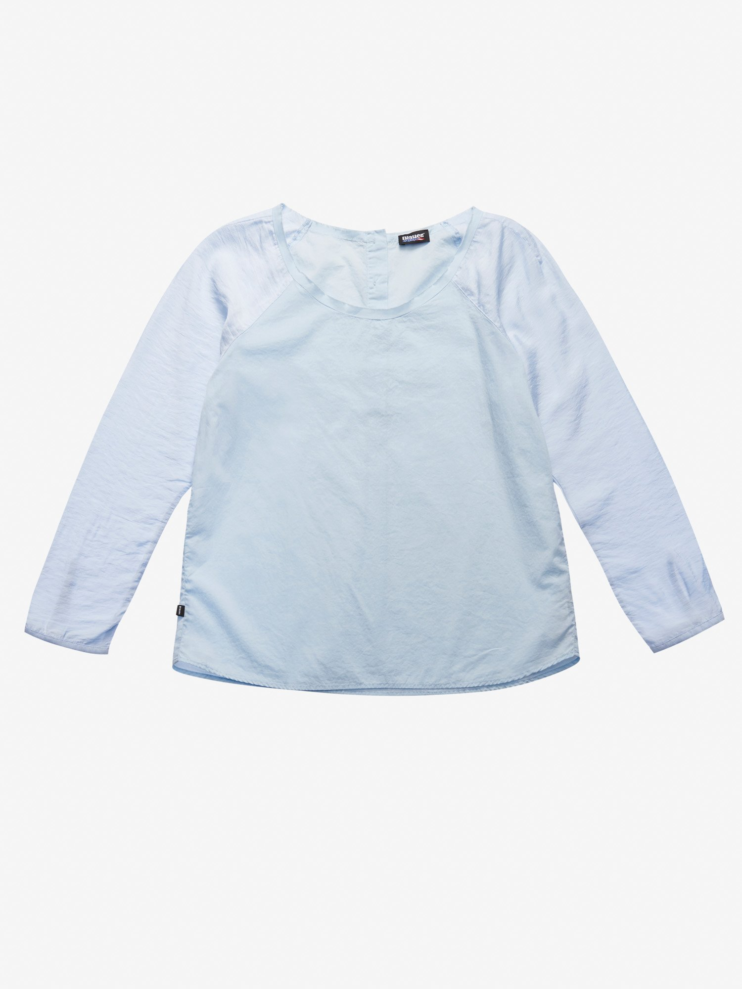 Blauer - COTTON AND VISCOSE MUSLIN SHIRT - Sky Blue Smoke - Blauer