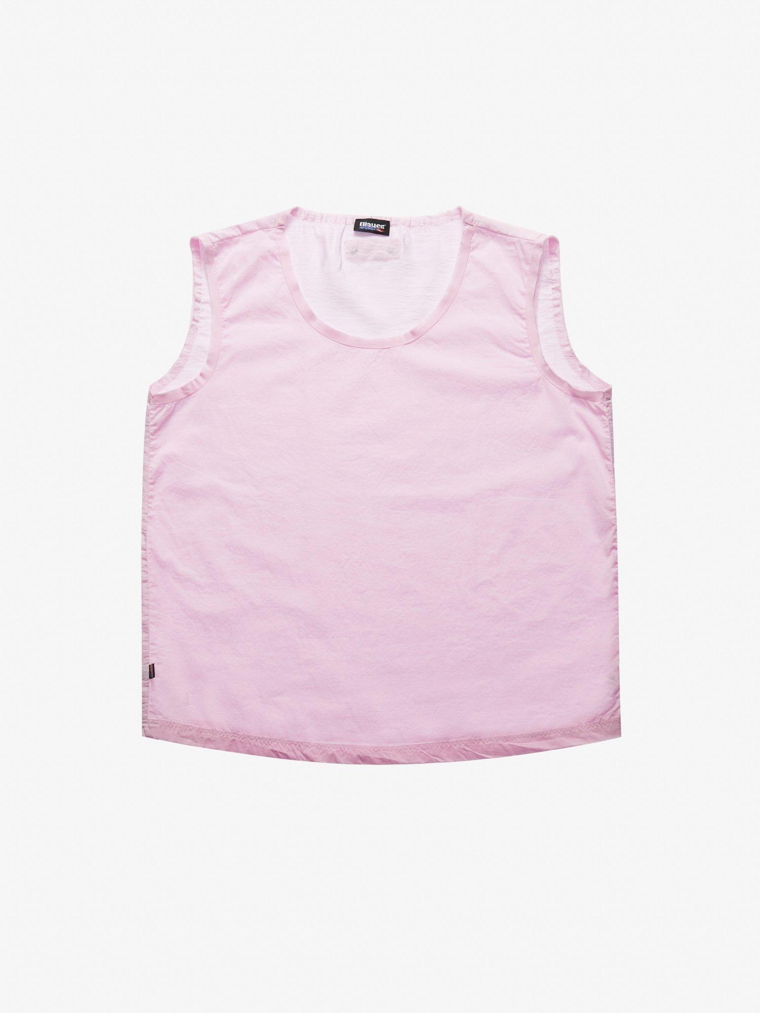 Blauer - COTTON VISCOSE TANK TOP - Pink Pastel - Blauer