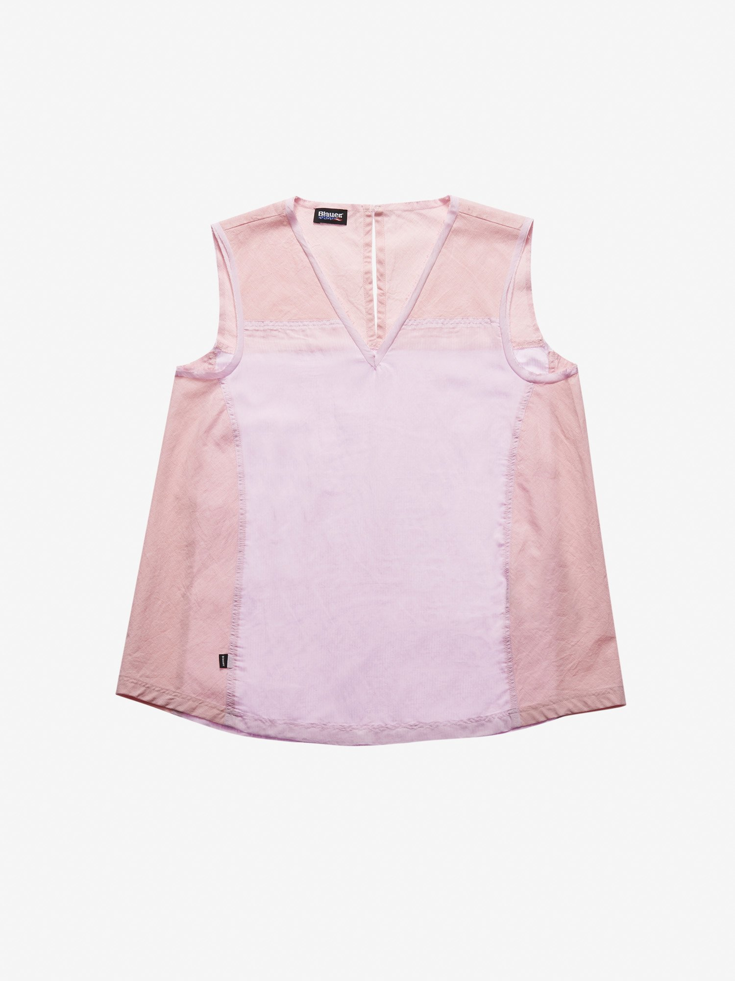 BICOLOUR SLEEVELESS SHIRT - Blauer