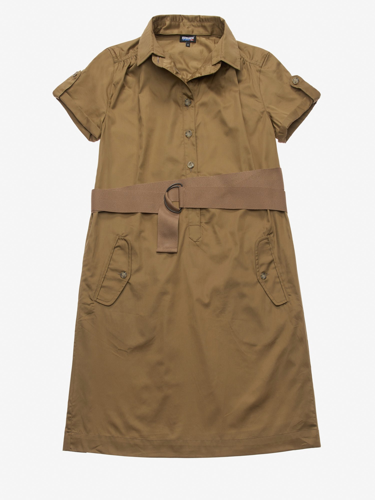 COTTON SATIN DRESS - Blauer