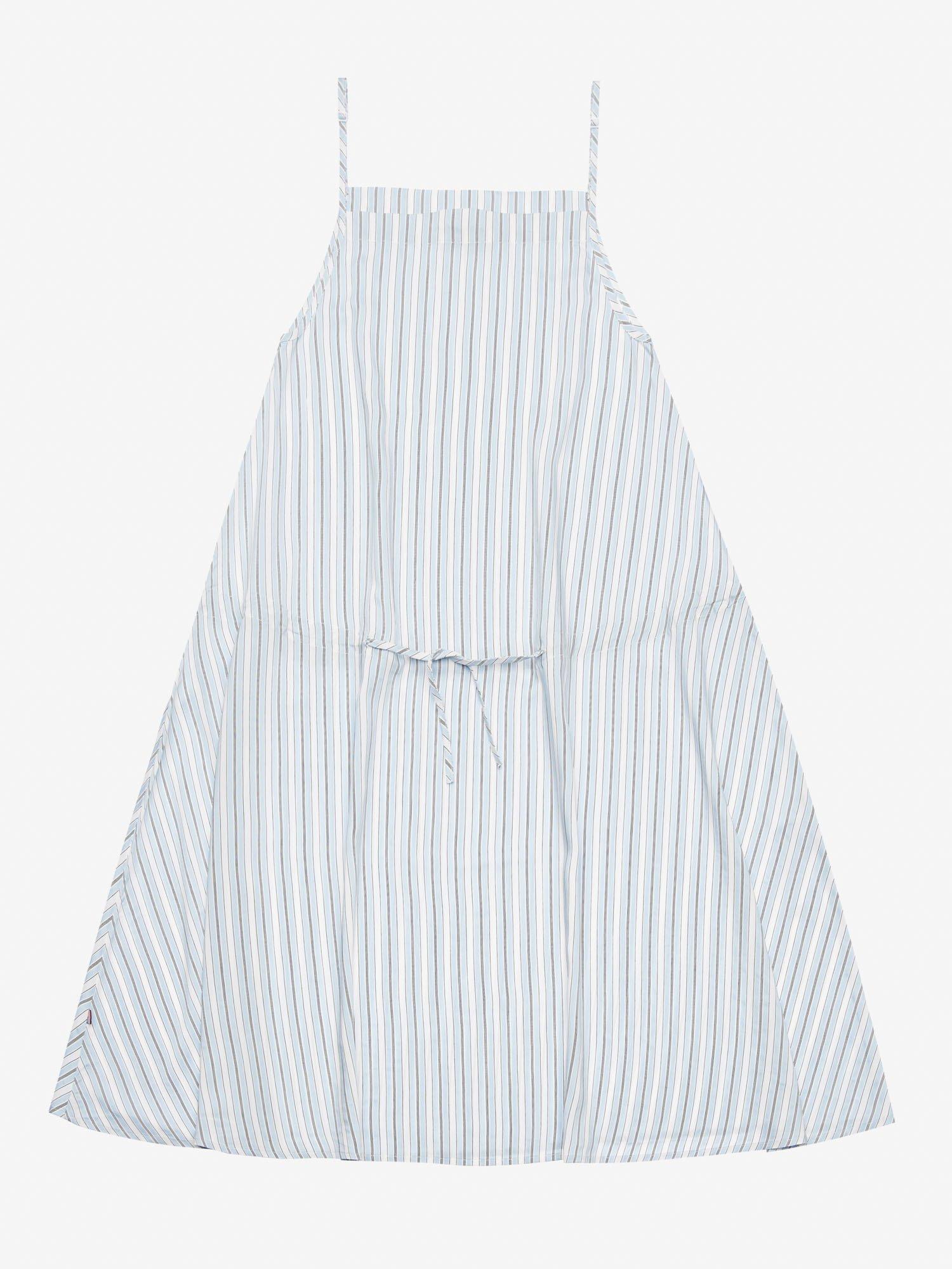 STRIPED DRESS WITH NARROW STRAPS - Blauer