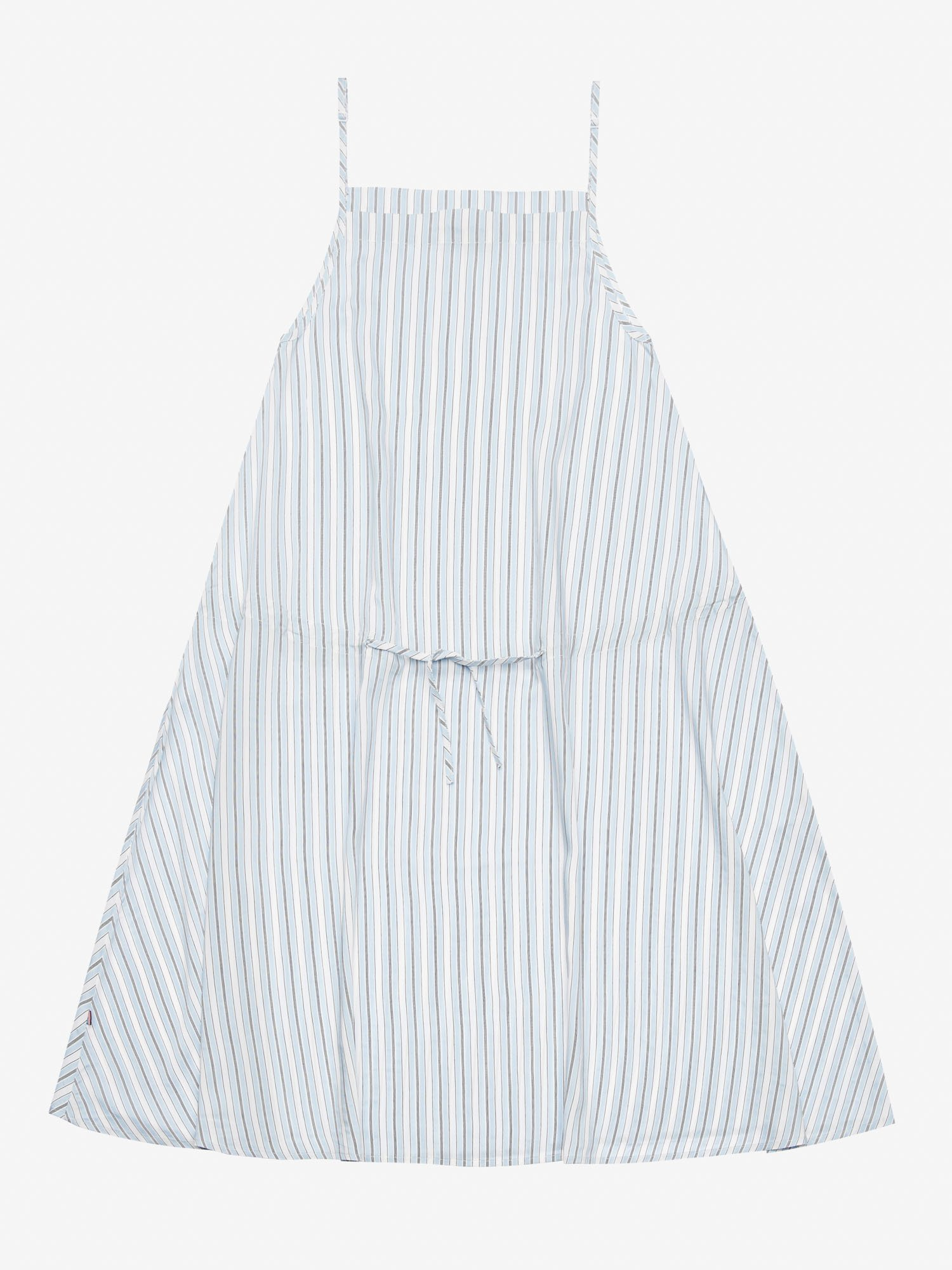 STRIPED DRESS WITH NARROW STRAPS - Blauer