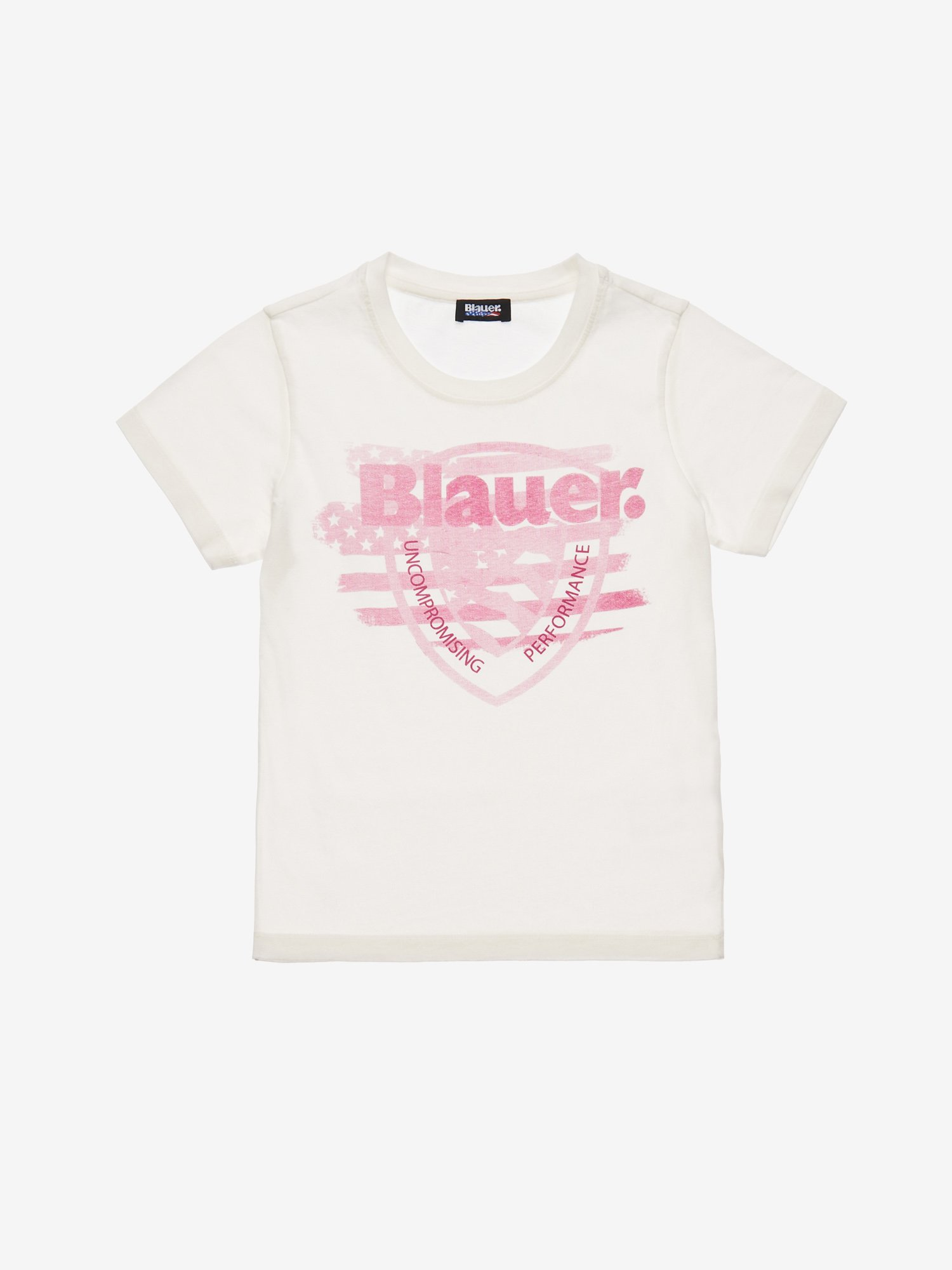 Blauer - JUNIOR BLAUER USA SHIELD T-SHIRT - Ivory - Blauer