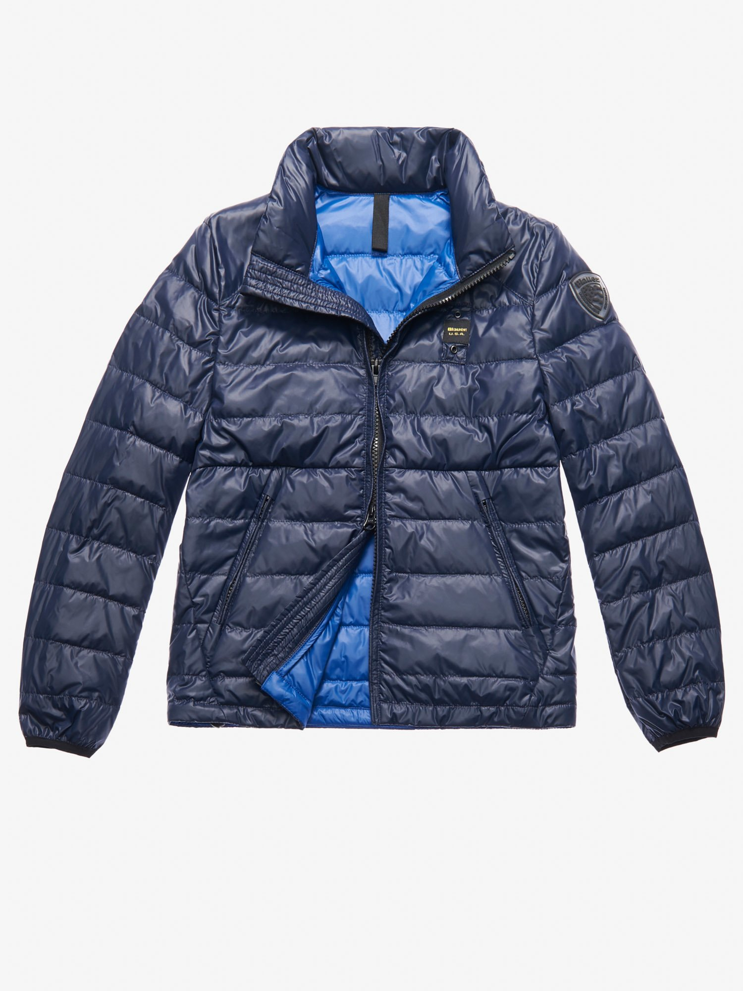 Blauer - COLLINS LIGHTWEIGHT DOWN JACKET - Blue Inside Blu Oltremare - Blauer