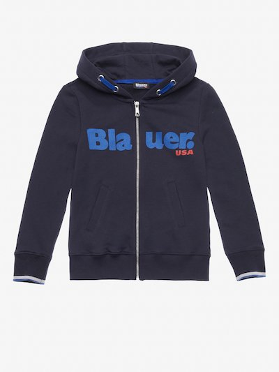 SWEATSHIRT-JACKE JUNIOR MIT KAPUZE