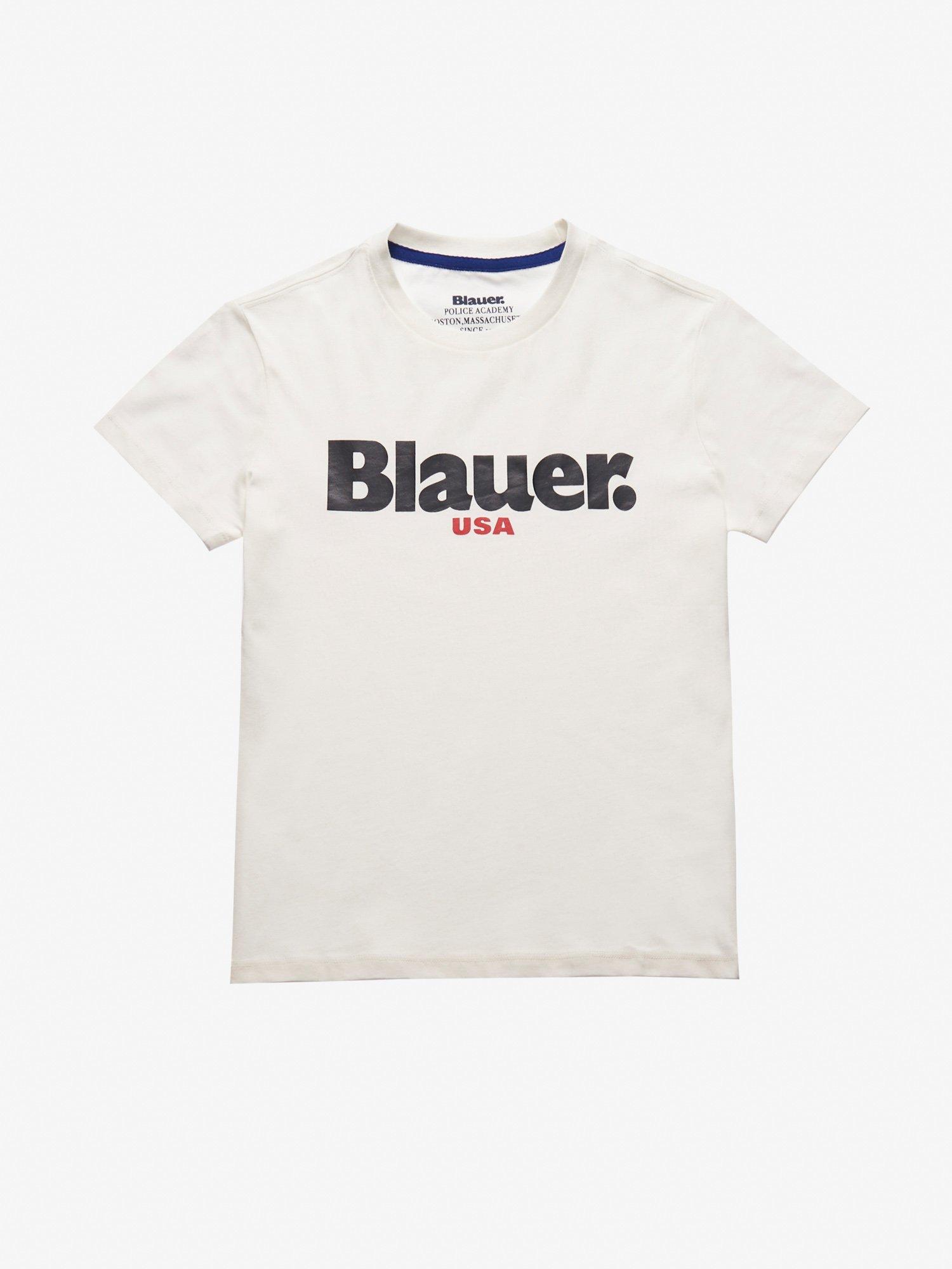 Blauer - JUNIOR BLAUER USA T-SHIRT - Ivory - Blauer