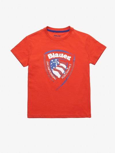 T-SHIRT JUNIOR BLAUER-SCHILD
