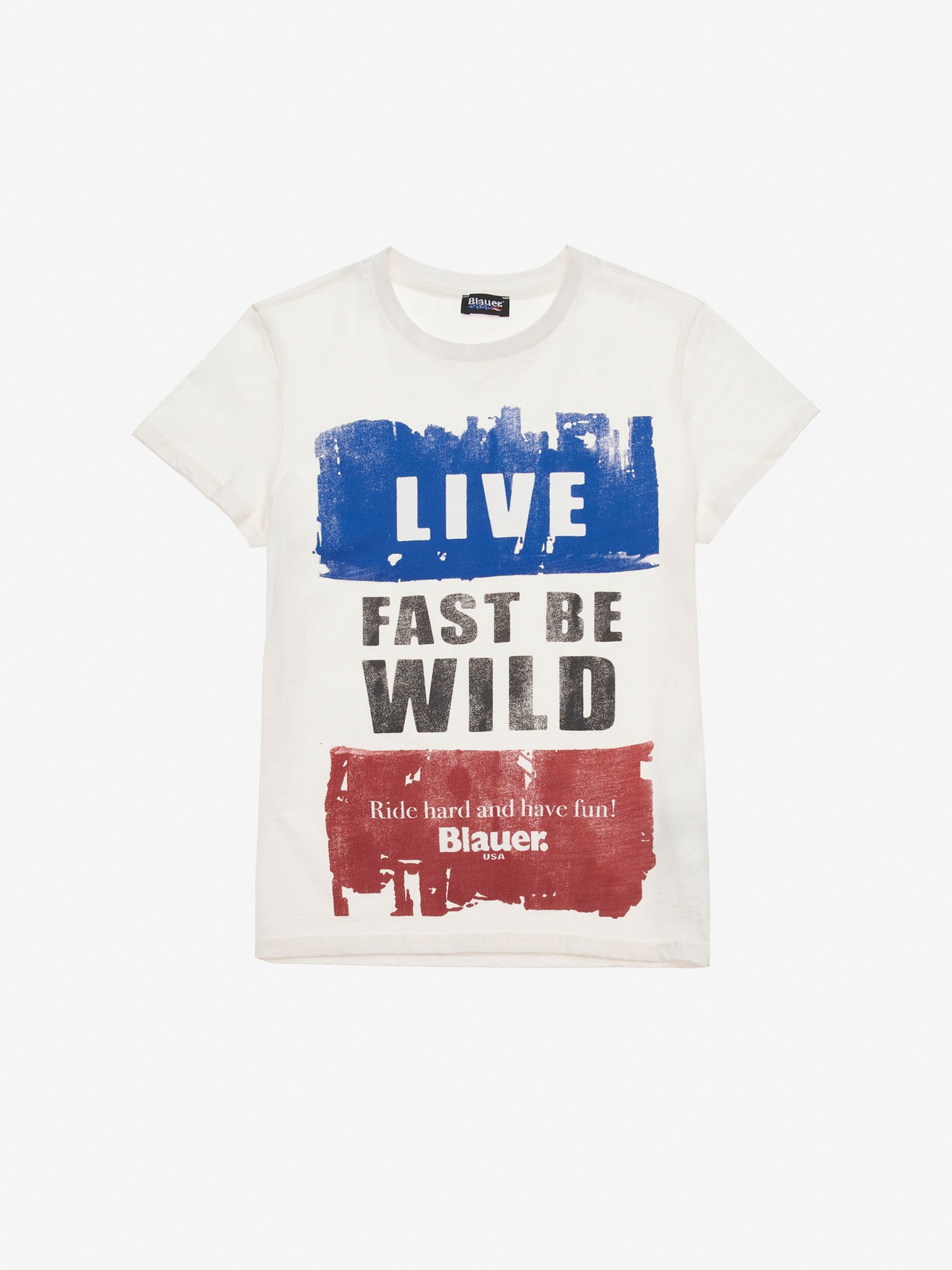 JUNIOR LIVE FAST BE WILD T-SHIRT - Blauer