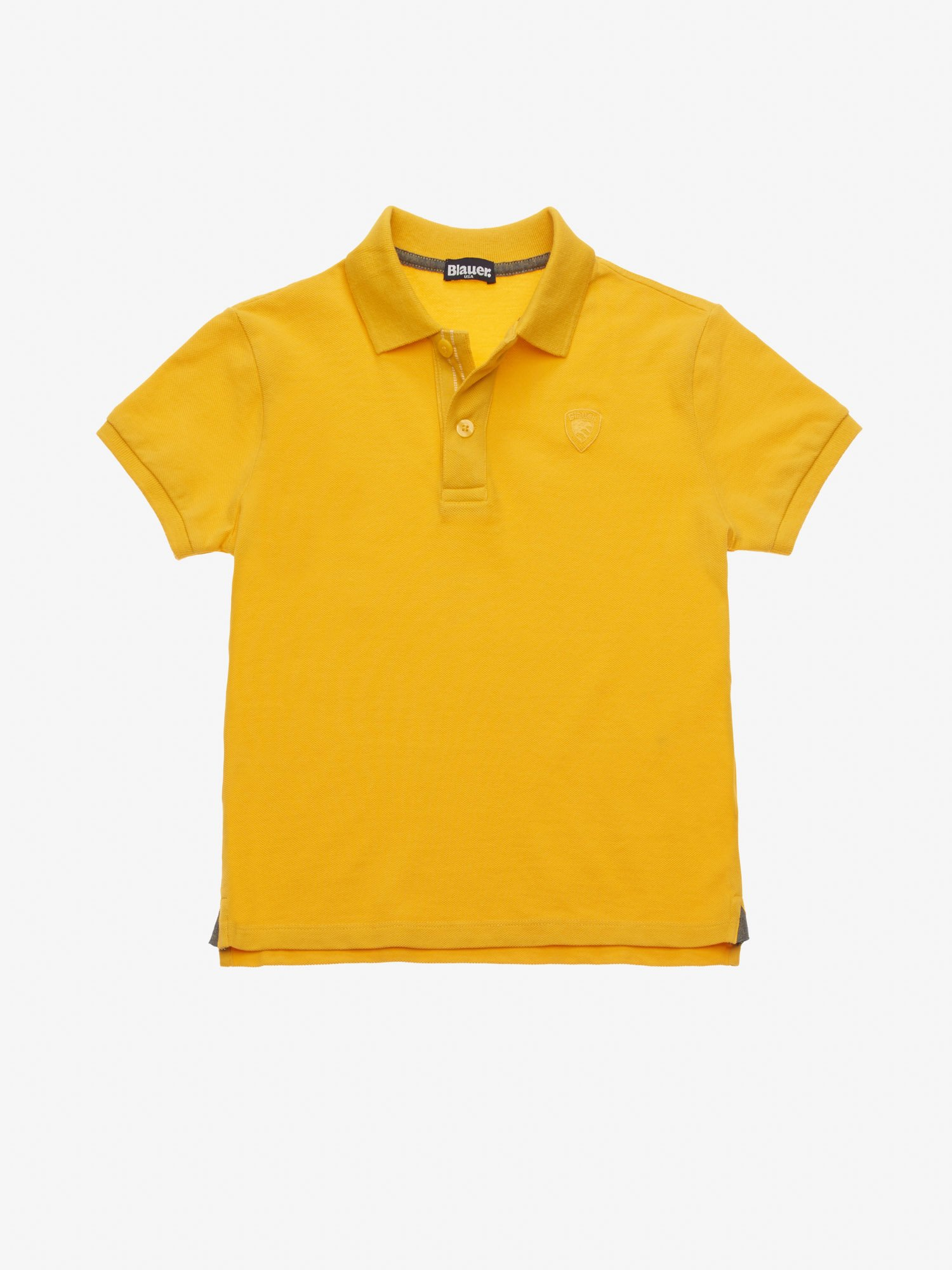 Blauer - JUNIOR LIGHTWEIGHT PIQUE POLO SHIRT - Lemon - Blauer