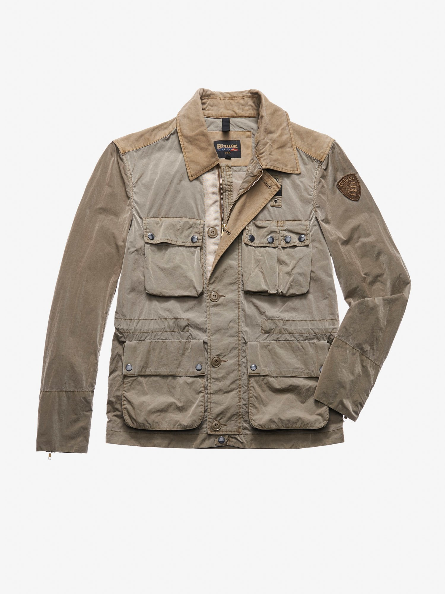 GARCIA GARMENT DYED FIELD JACKET - Blauer