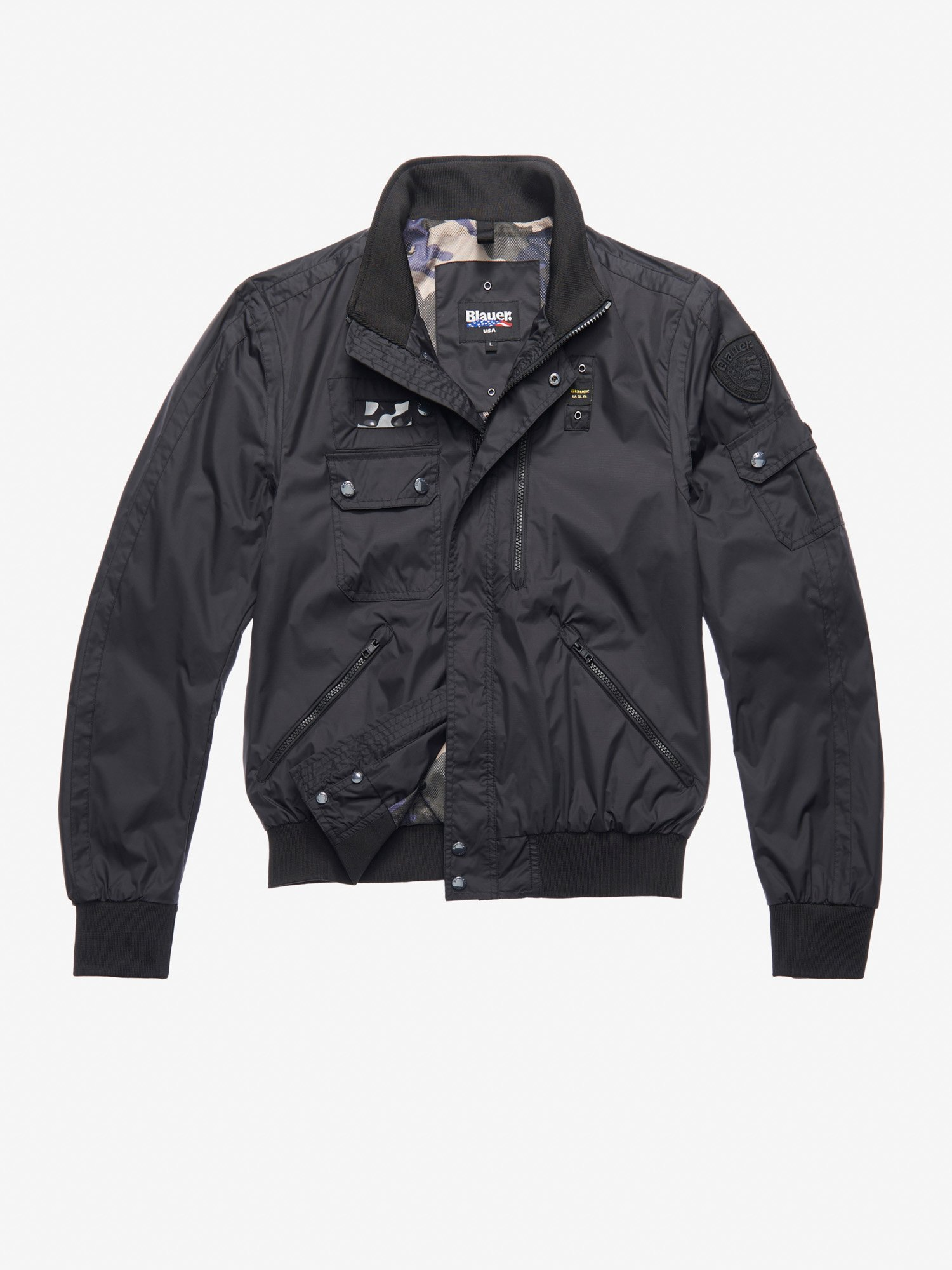 CLARK MULTIPOCKET BOMBER-STYLE JACKET - Blauer