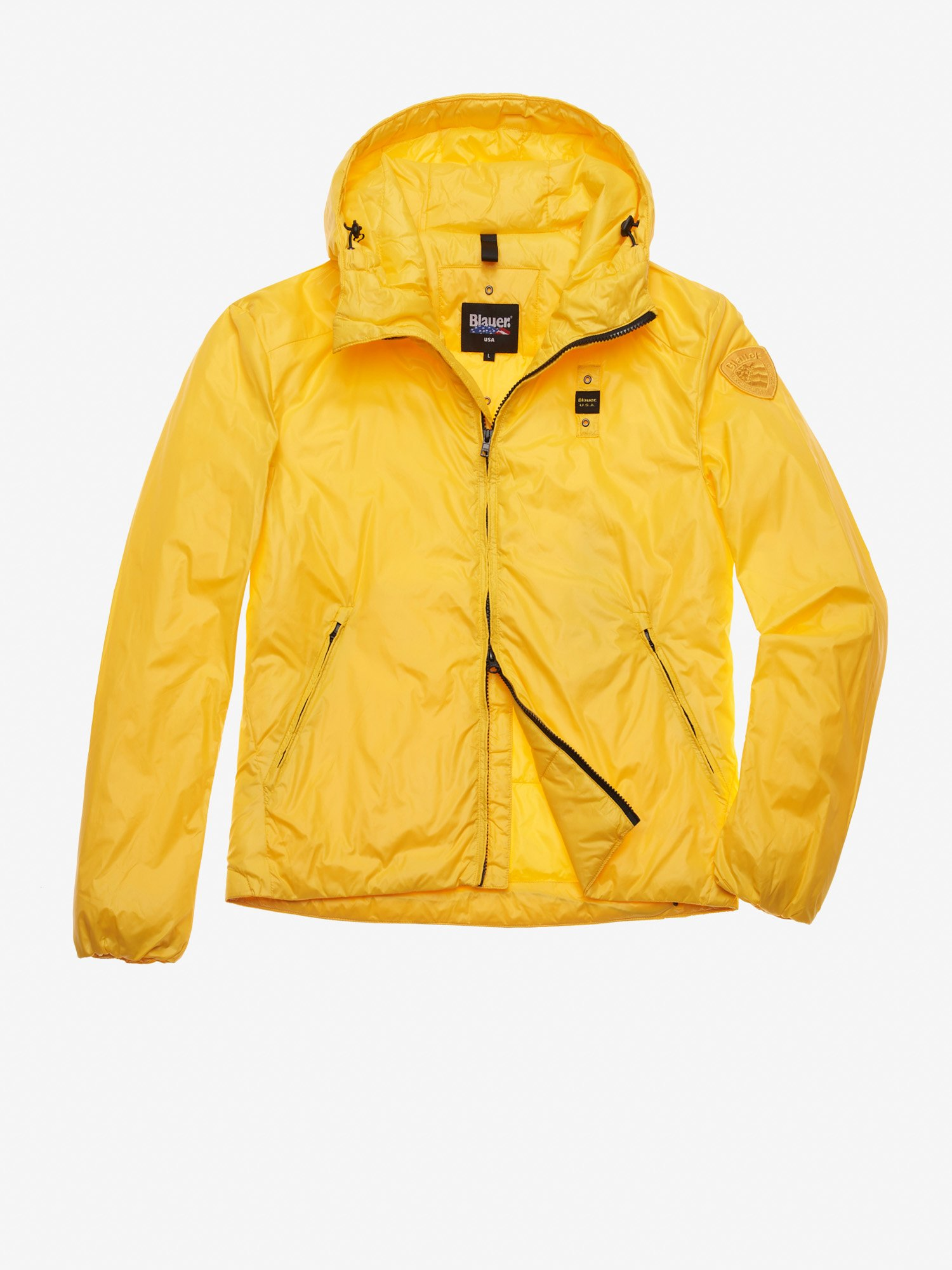 Blauer - WALKER SMOOTH NYLON PADDED JACKET - Lemon - Blauer