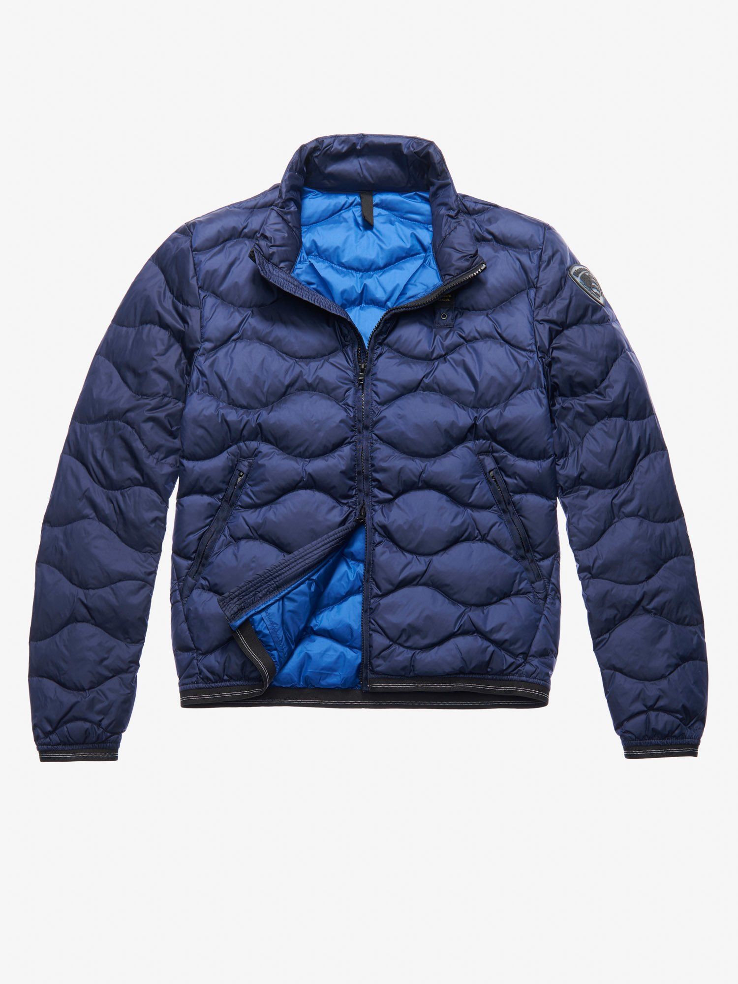 ee32bd399d3 Blauer - HILL WAVE-QUILTED DOWN JACKET - Blue Inside Blu Oltremare - 1 ...
