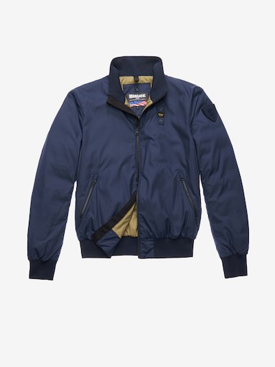 GREEN BOMBER-STYLE DOWN JACKET