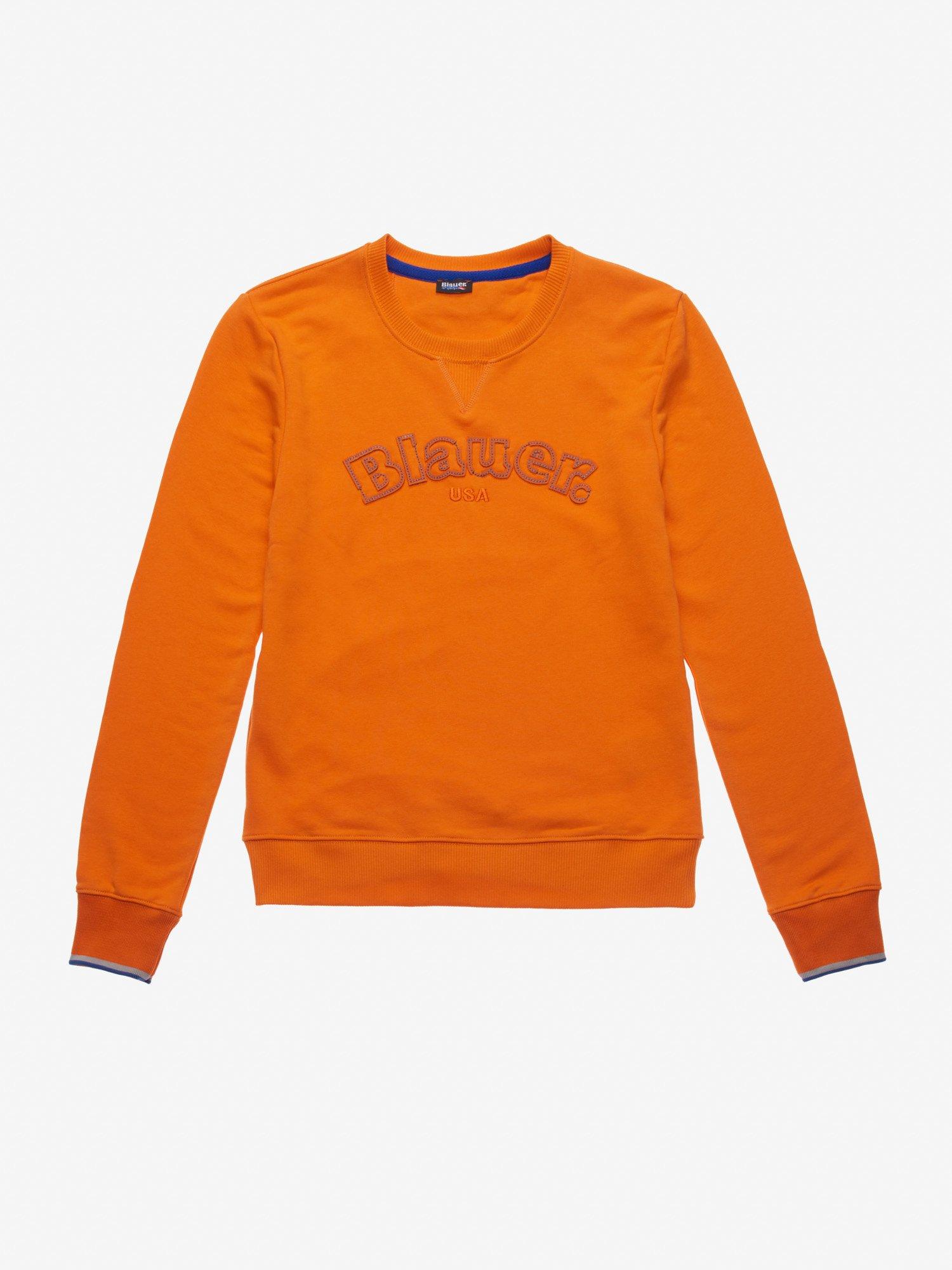 Blauer - ACADEMY STYLE CREW NECK SWEATSHIRT - Orange Carrot - Blauer
