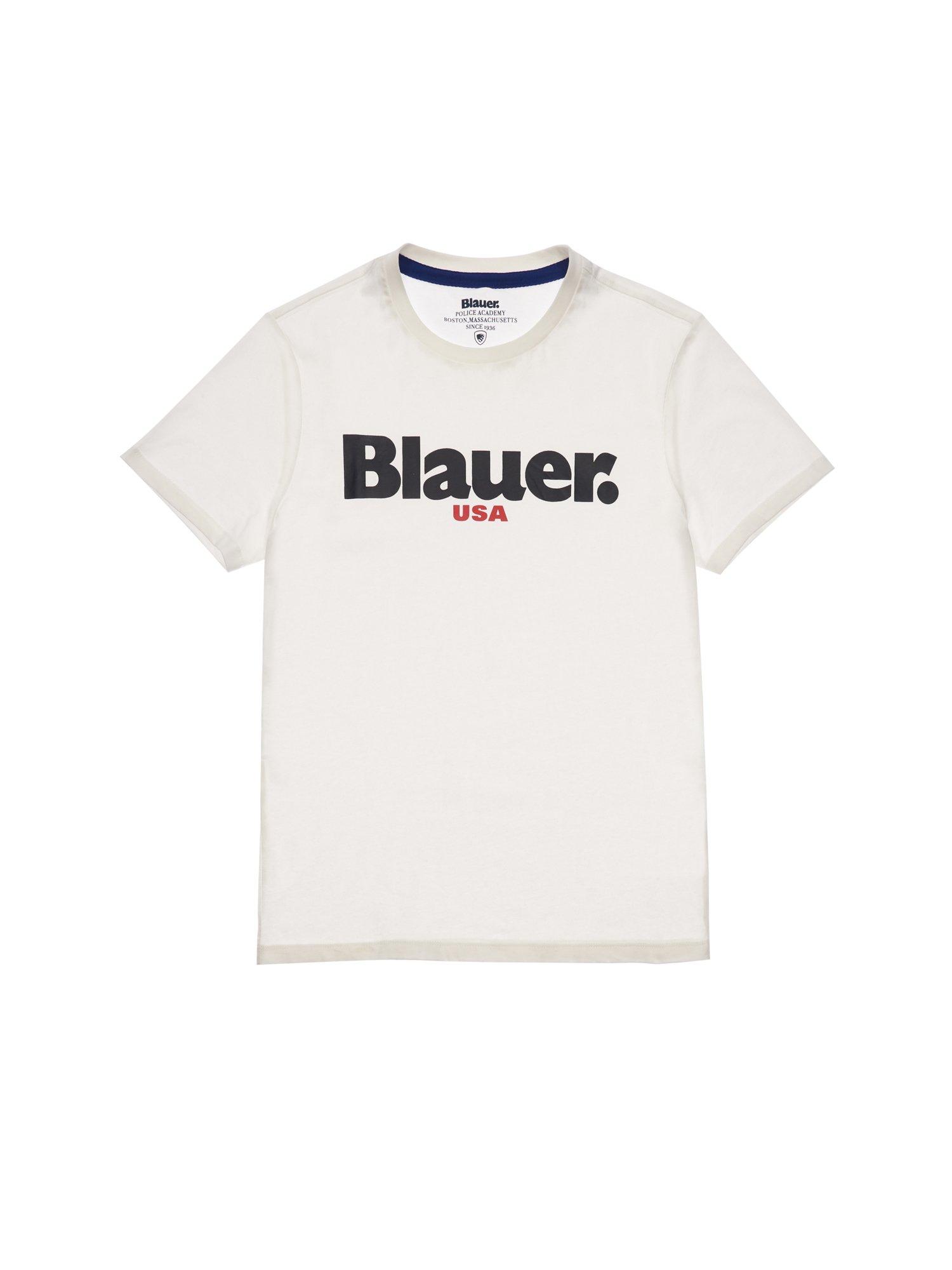 Blauer - T-SHIRT BLAUER USA FÜR HERREN - Elfenbein - Blauer