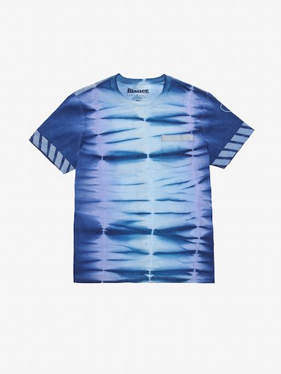 T-SHIRT HERREN TIE AND DYE REFLEKTIEREND