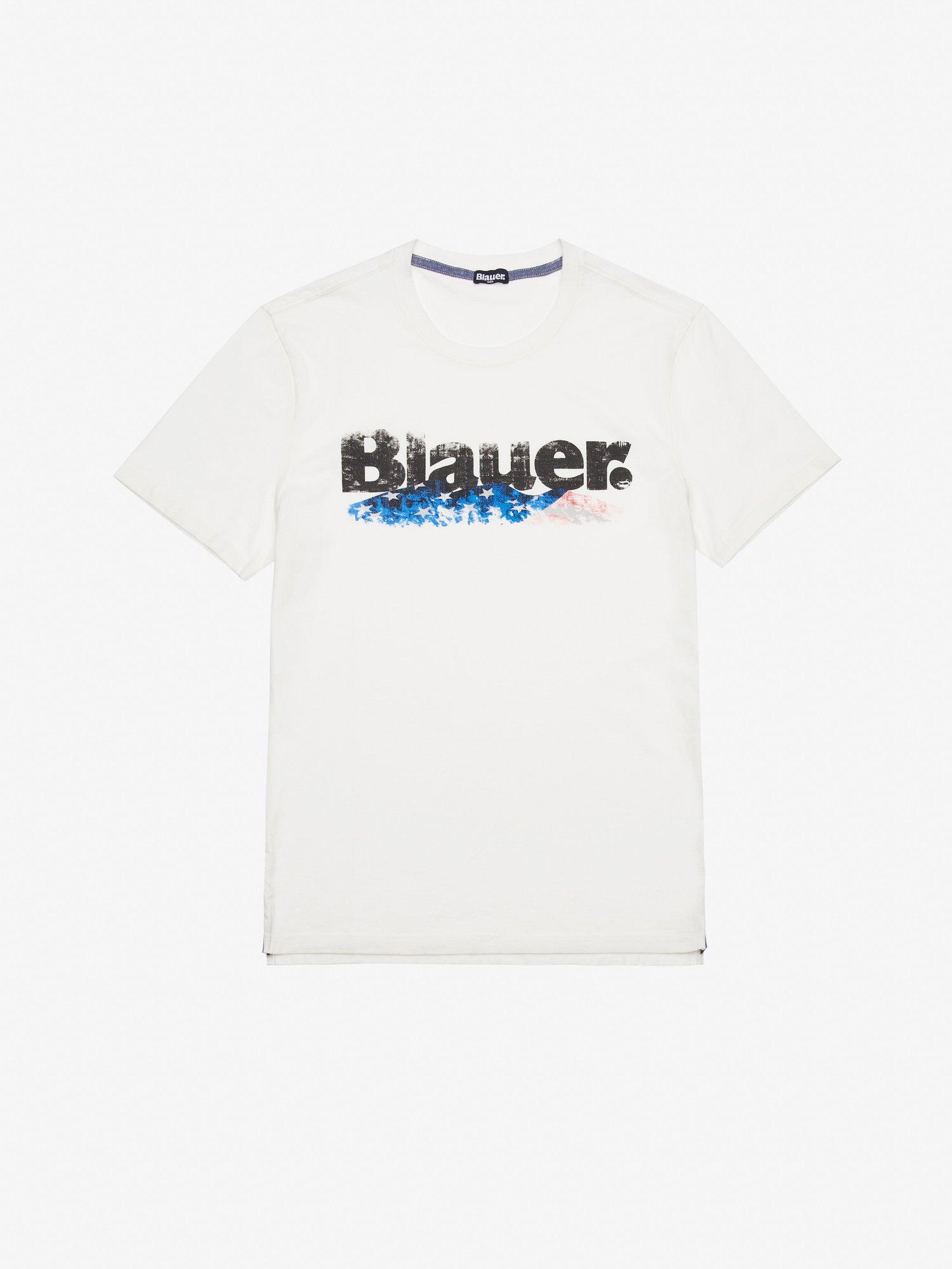 Blauer - T-SHIRT UOMO IN JERSEY TINTO CAPO - Giglio - Blauer