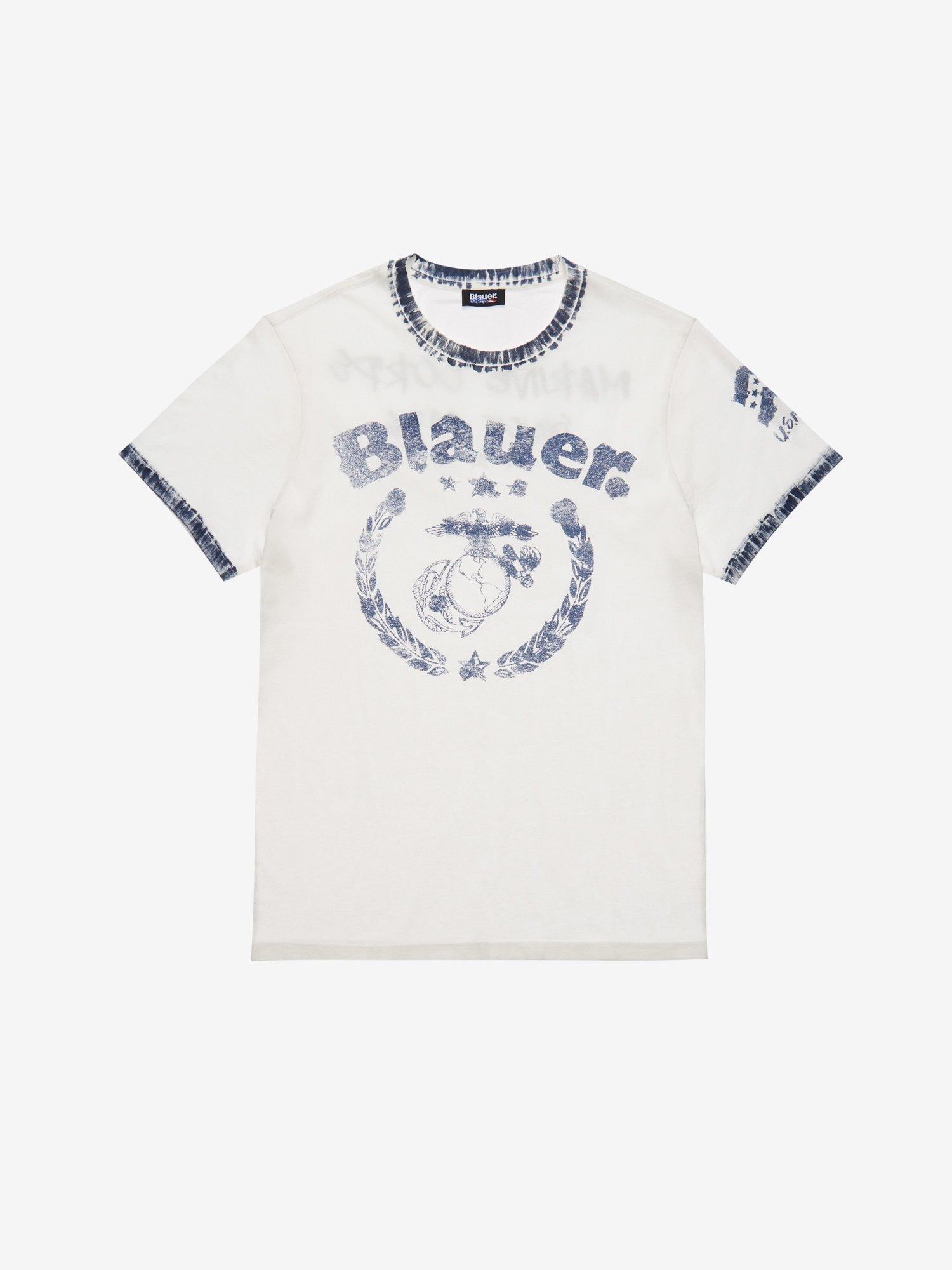 Blauer - MARINE T-SHIRT - Ivory - Blauer