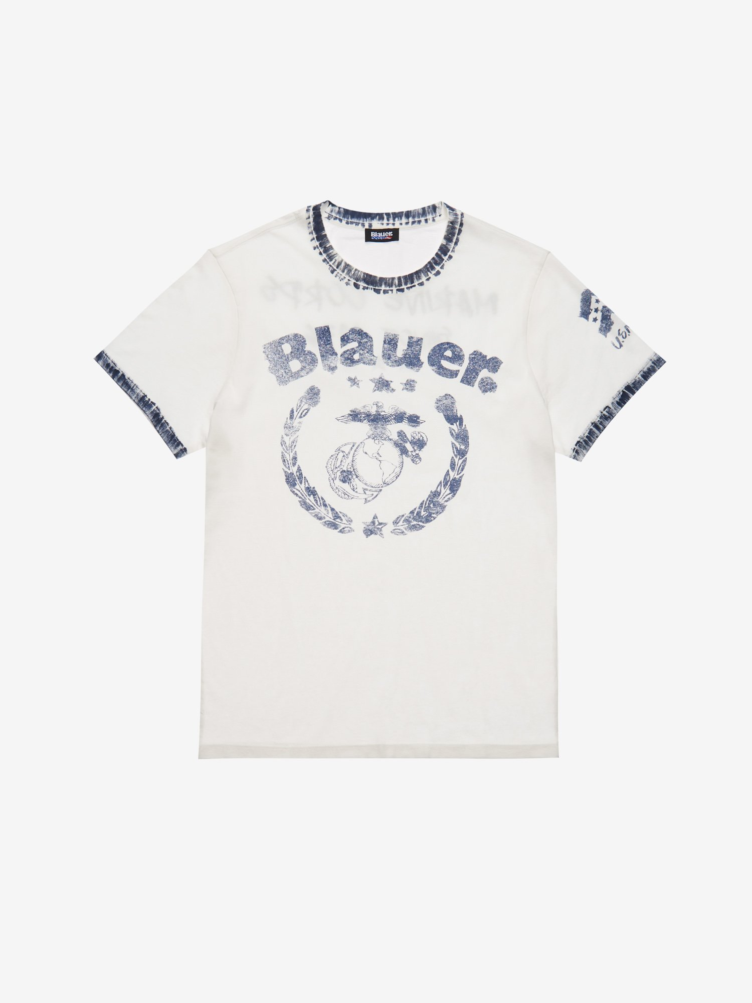 Blauer - T-SHIRT MARINE - Avorio - Blauer