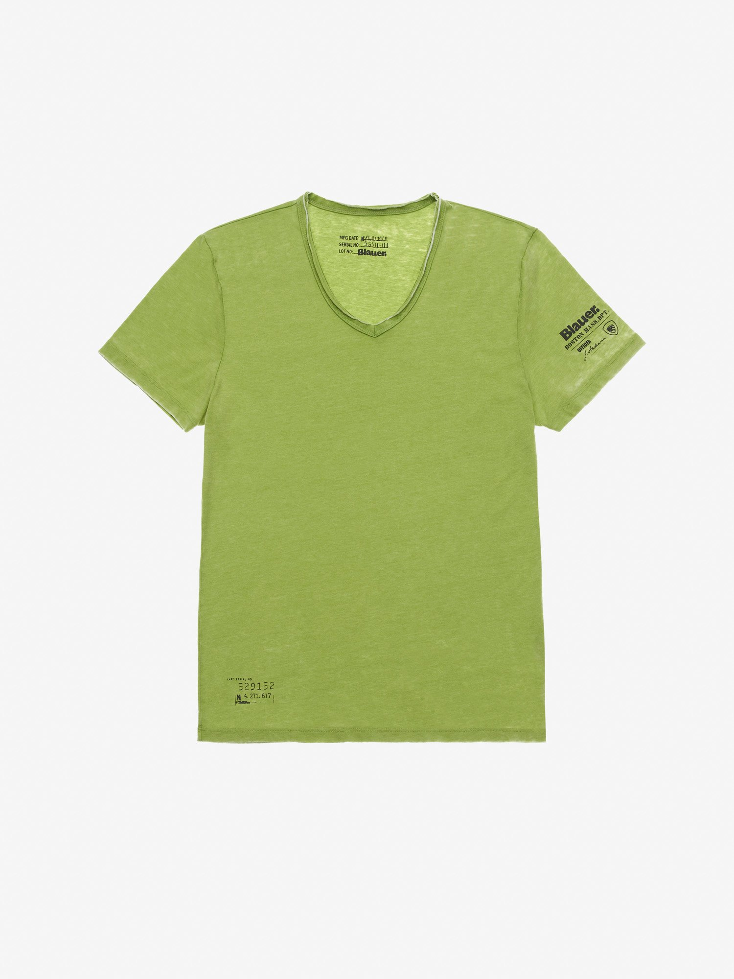 Blauer - BOSTON MASS. DPT. T-SHIRT - Green Pea - Blauer