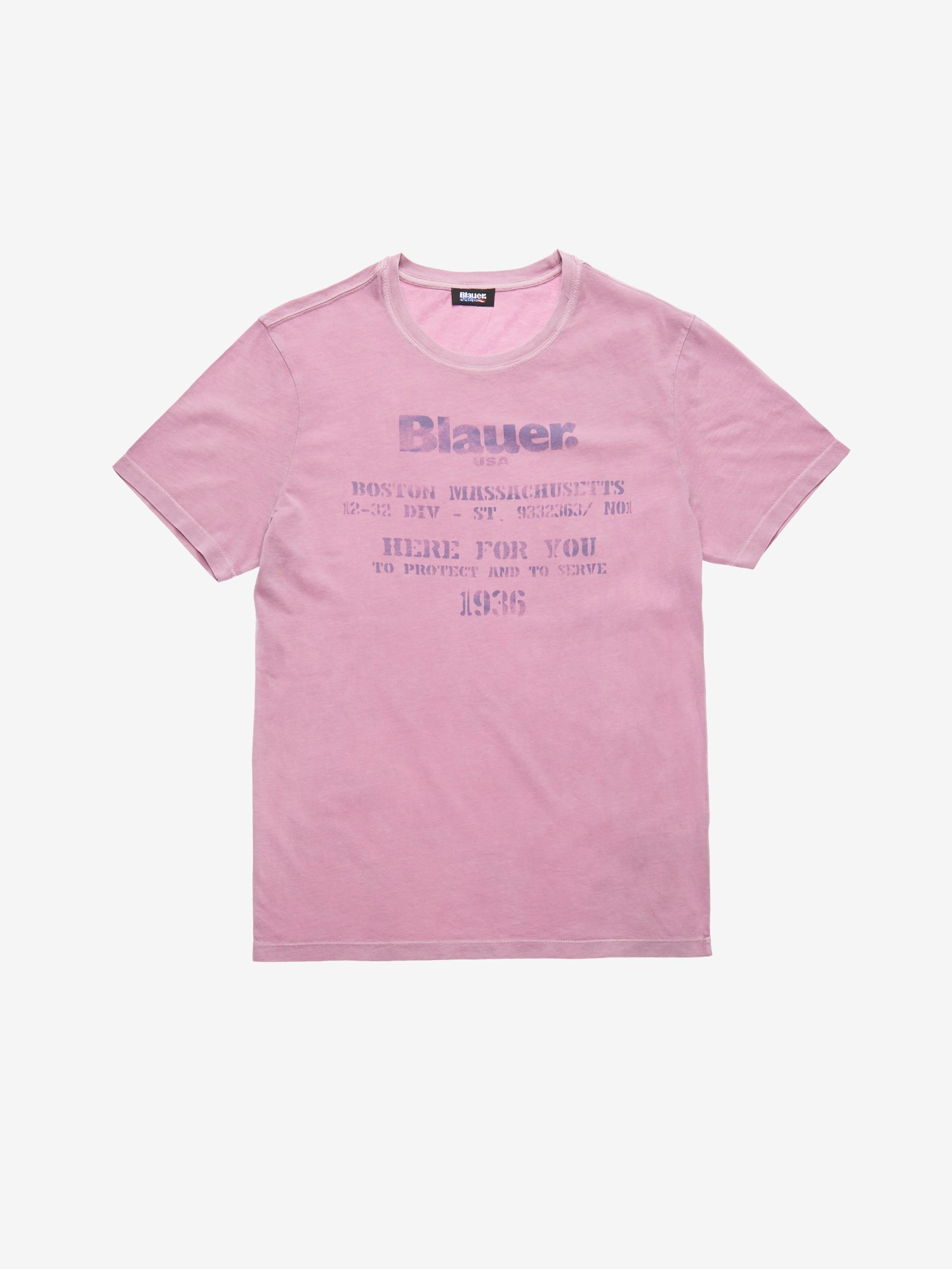 Blauer - PROTECT AND SERVE T-SHIRT - Mauve Pink - Blauer