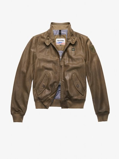 BOMBER-LEDERJACKE MIT KRAGEN WILLIAMS