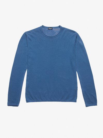 CREW NECK SWEATER WITH BLAUER SHIELD