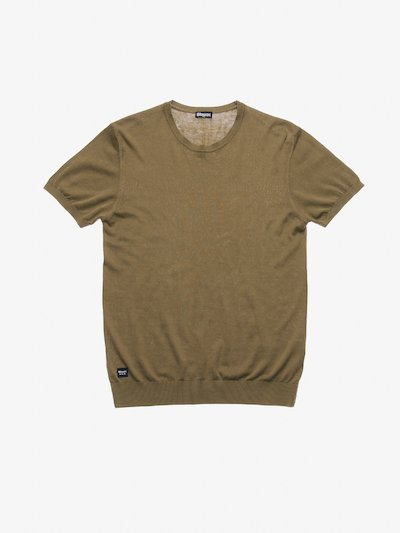 SHORT SLEEVE CREW NECK SWEATER