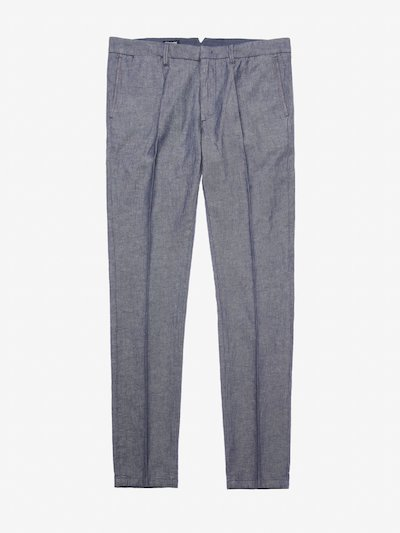 MEN'S STRETCH COTTON LINEN TROUSERS
